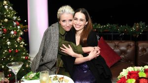 Emilia Clarke and Emma Thompson on Their Enviable Friendship and the Danger of Fairy Tales