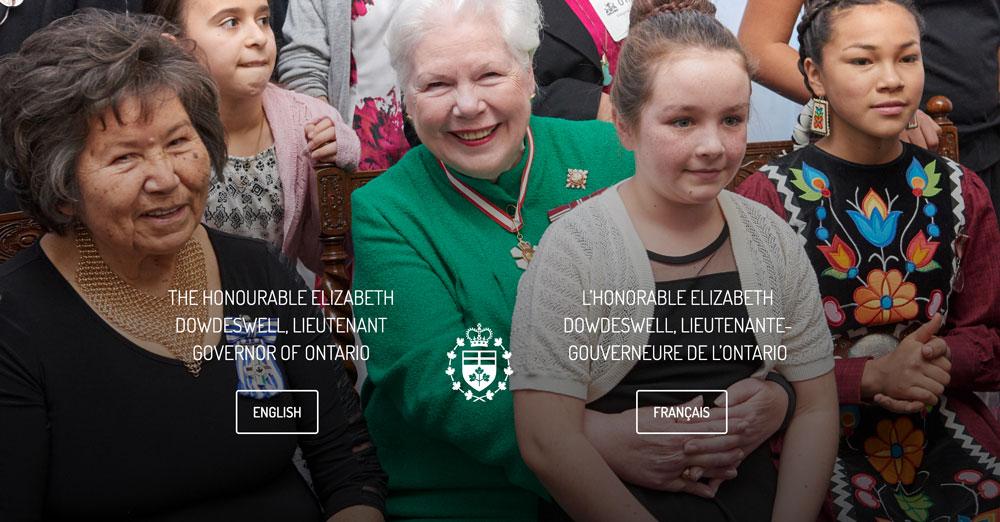 Lieutenant Governor of Ontario <sup>*</sup>